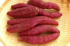 Sweet potato. Raw red potatoes in japan Stock Photos