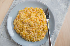 Sweet potato risotto. Home made Sweet potato risotto royalty free stock photos