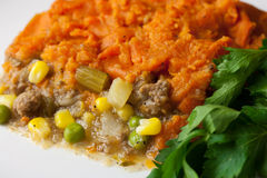 Sweet Potato Shepherds Pie Royalty Free Stock Photography