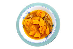 Sweet potato soup Stock Photography