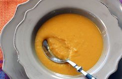 Sweet Potato Soup Royalty Free Stock Photos