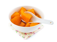 Sweet potato soup. Stock Images