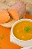 Sweet potato soup Stock Photography