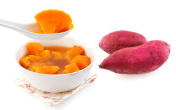 Sweet potato soup. Stock Image