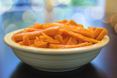 Sweet Potato Spears in Bowl Royalty Free Stock Images