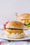 Sweet potato veggie  burger Stock Photography