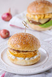 Sweet potato veggie  burger Royalty Free Stock Photo