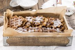 Sweet potato waffles stock photo
