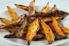 Sweet potato wedges Stock Photography