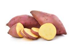 Sweet potato on  white background Royalty Free Stock Images