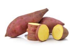 Sweet potato on the white background Royalty Free Stock Photos