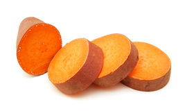 Sweet potato. On the white background stock images