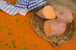 Sweet potatoe ingredient Royalty Free Stock Image