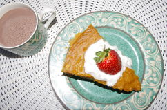 Sweet potatoe pie. This was thanksgiving day dessert Royalty Free Stock Photos