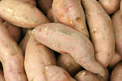 Sweet potatoes. The close-up of sweet potatoes Royalty Free Stock Image