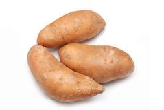 Sweet potatoes. Isolated on white background Royalty Free Stock Image