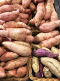 Sweet Potatoes in Baskets Stock Photography