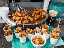 Sweet potatoes dessert Stock Photo