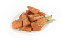 Sweet potatoes dish Stock Images