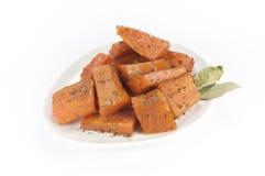 Sweet potatoes dish Stock Images