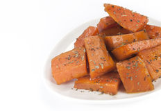 Sweet potatoes dish Stock Image