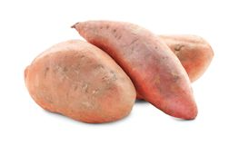 Sweet potatoes, isolated. On white stock photos