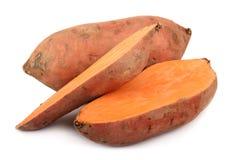 Sweet potatoes. Isolated on white Royalty Free Stock Photo