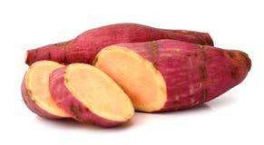 Sweet potatoes. Sweet potato on the white background Stock Photography