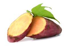 Sweet potatoes. Sweet potato on the white background Stock Image