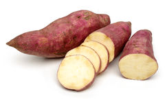 Sweet Potatoes with slices Royalty Free Stock Images