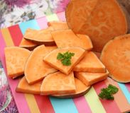 Sweet Potatoes. Some sweet potatoes for cooking a puree Stock Photos