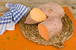 Sweet potatoes still life Royalty Free Stock Photos