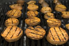 Sweet Potatos on the Grill Royalty Free Stock Photography