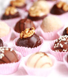 Sweet pralines Stock Photography