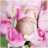 Sweet pregnancy Royalty Free Stock Image