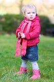 Sweet preschooler girl in the park Royalty Free Stock Image
