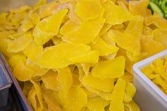 Sweet Preserved Mango Slice. Thai street food.  Royalty Free Stock Photos