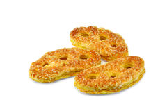 Sweet pretzel cookies. With butter, sprinkled with sugar Royalty Free Stock Image