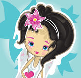 Sweet princess girl. Vectorl illustration Stock Photos