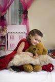 Sweet princess at home Stock Images