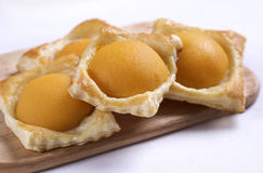 A sweet puff pastry peach Royalty Free Stock Photo
