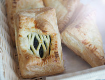 Sweet puff pastry stuffed with blueberry Stock Image