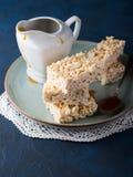 Sweet puffed rice bars with caramel Stock Image