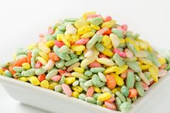 Sweet puffed rice Stock Images