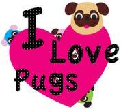 Sweet Pug. T shirt Graphic Vector Design Art illustration Royalty Free Stock Image