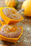 Sweet pumpkin muffins Stock Photo