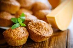 Sweet pumpkin muffins Stock Photos