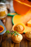 Sweet pumpkin muffins Stock Photography