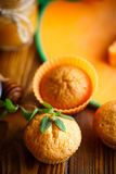 Sweet pumpkin muffins Stock Images