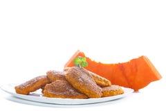 Sweet pumpkin pancakes Stock Photos